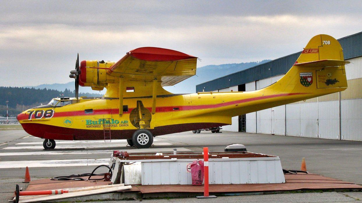 Warbird PBY-5A Catalina Ice Pilots NWT Buffalo Airways Reality TV wallpaper