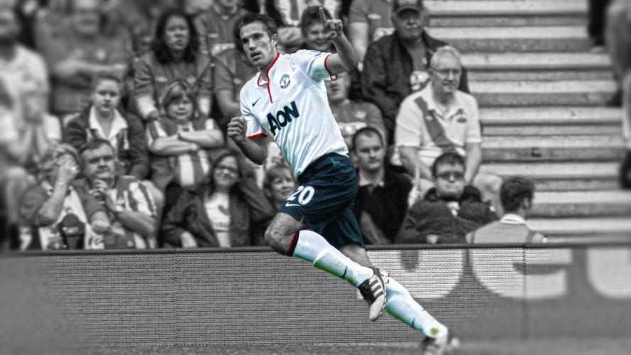 soccer HDR photography Manchester United FC Robin van Persie premier league cutout RvP wallpaper