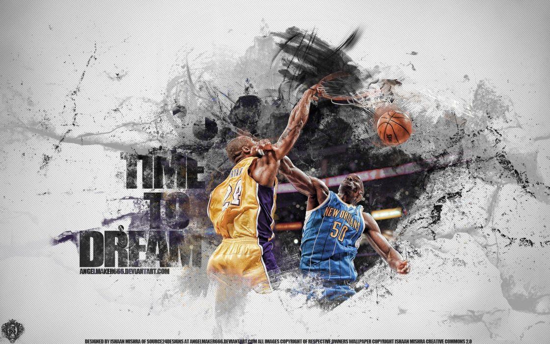 DeviantART NBA basketball Kobe Bryant Los Angeles Lakers New Orleans Hornets wallpaper