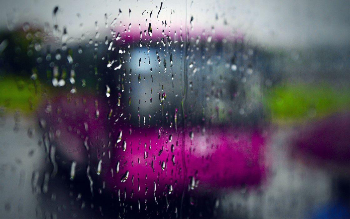 rain rain on glass wallpaper
