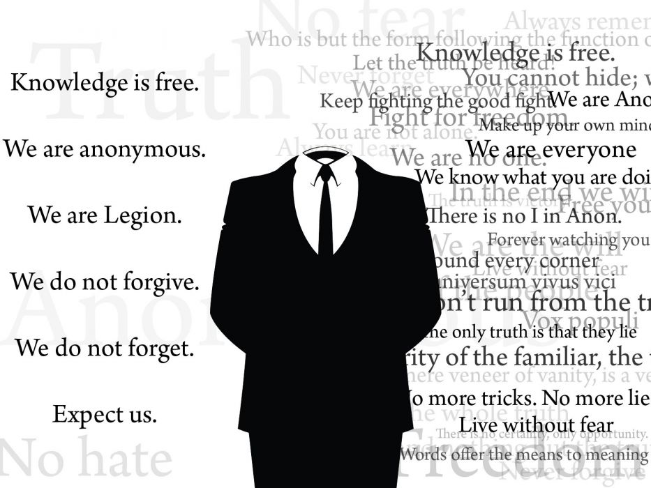 Anonymous Legion Quotes Grayscale Monochrome Wallpaper