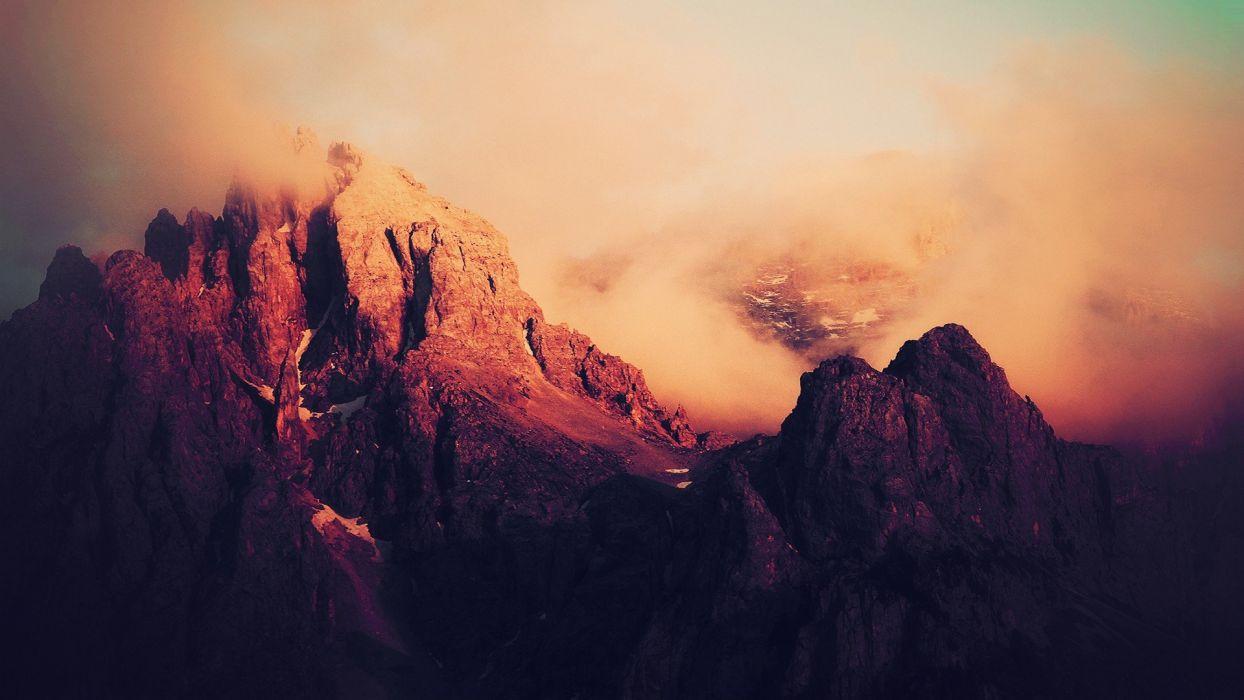 landscapes burning wallpaper