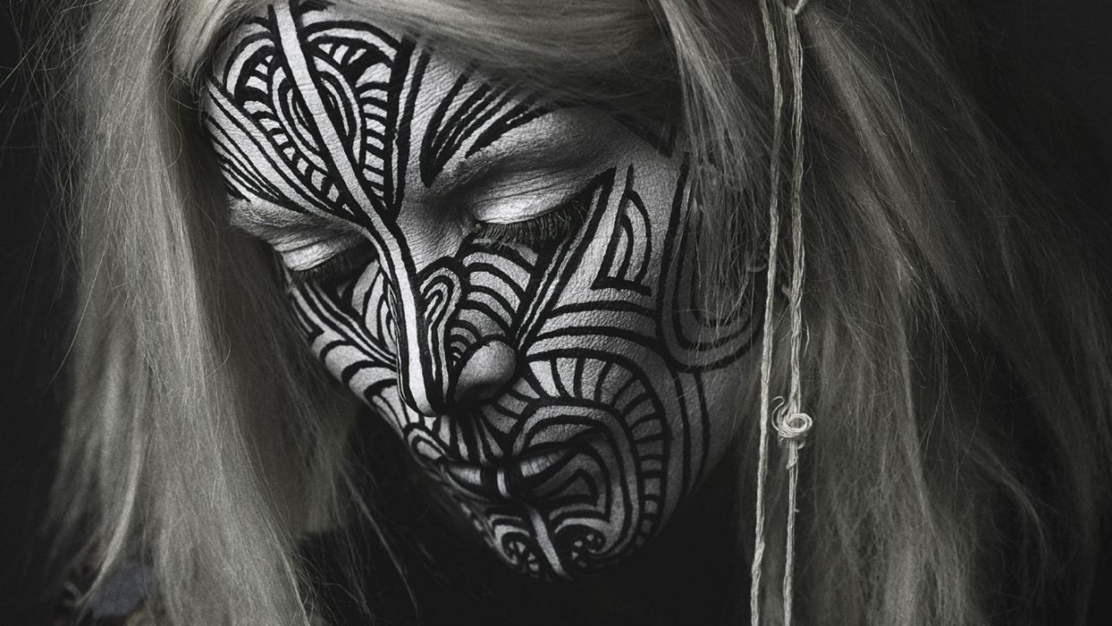 blondes tattoos women music Fever Ray faces musicians Karin Dreijer Andersson wallpaper