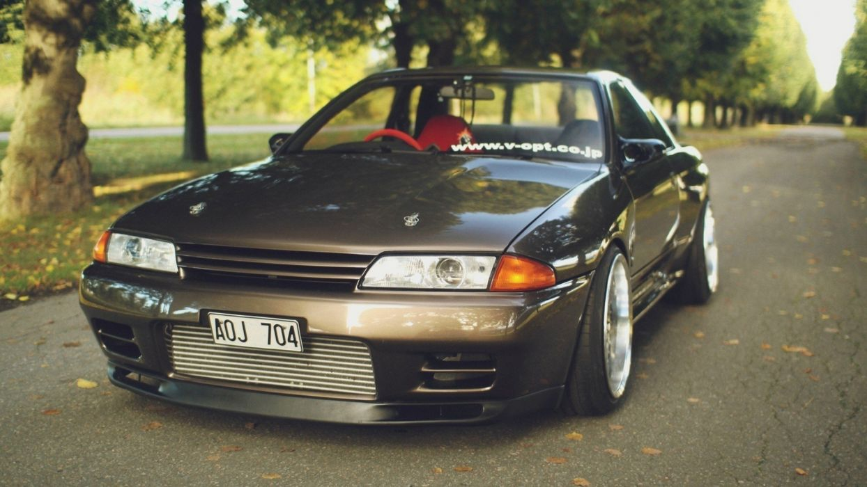 cars roads tuning tuned Nissan Skyline R32 GT-R stance JDM Japanese domestic market jdm wallpaper