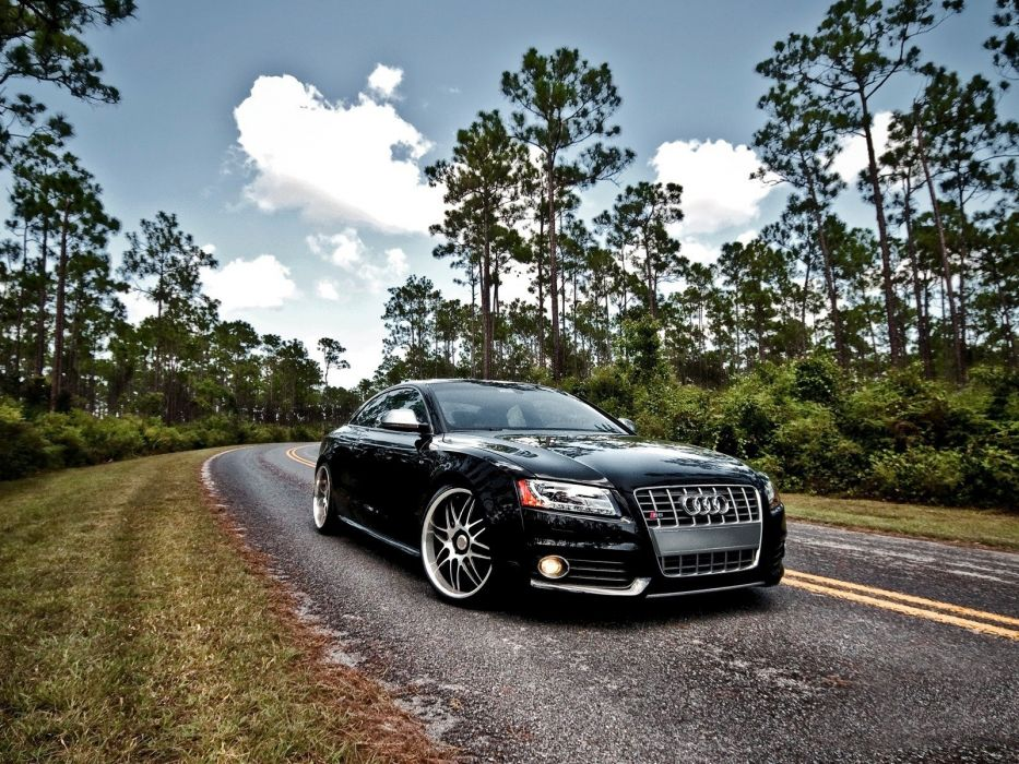 cars Audi roads Audi S5 black cars wallpaper