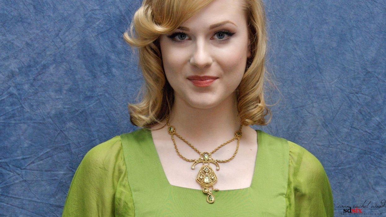 blondes women close-up models Evan Rachel Wood wallpaper