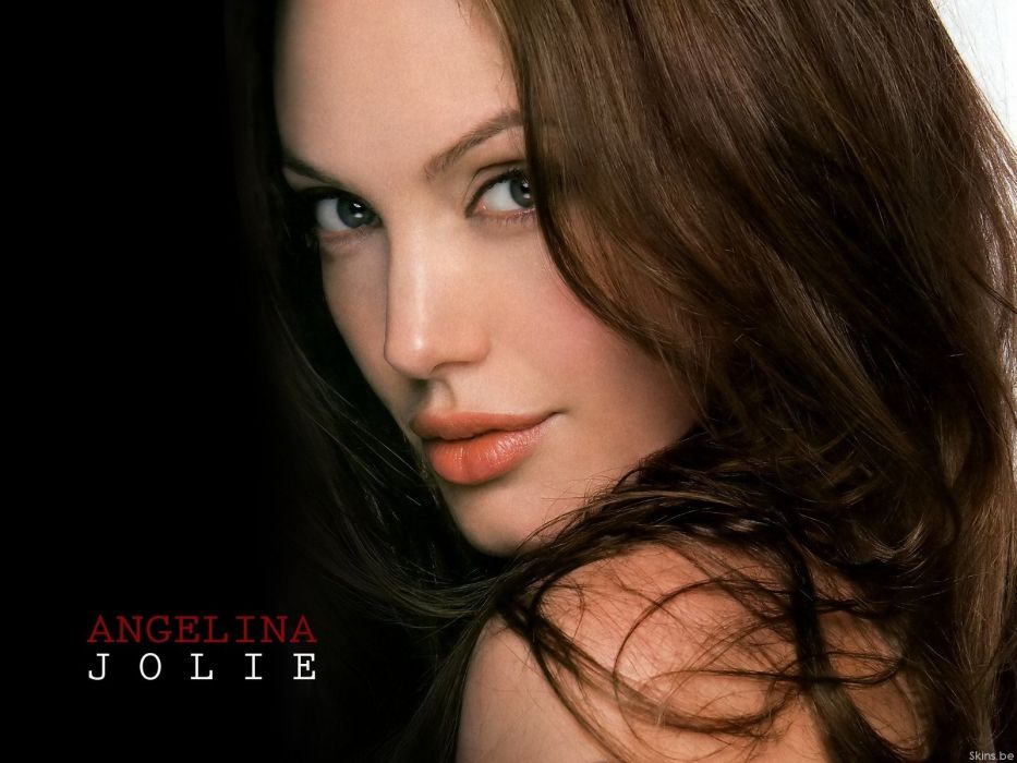 brunettes blondes women panties Angelina Jolie bra wallpaper