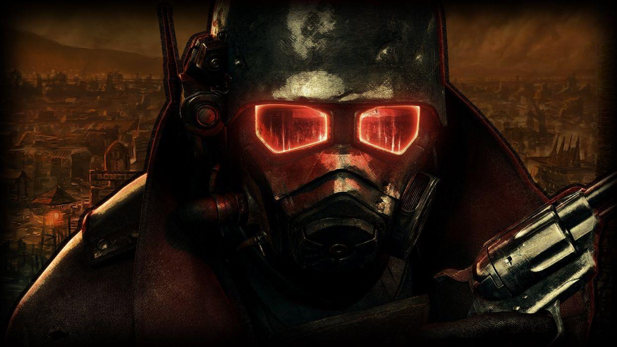 Fallout post-apocalyptic Fallout New Vegas helmets wallpaper