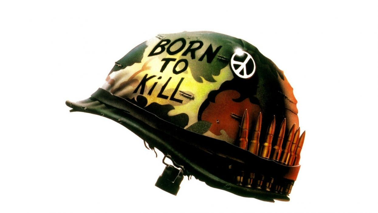 movies Full Metal Jacket helmets wallpaper