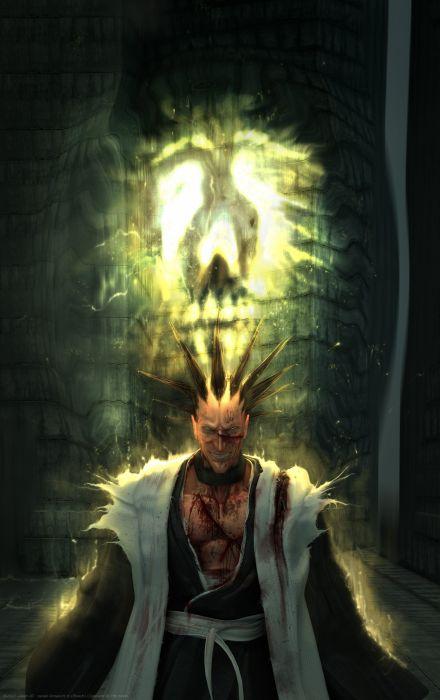 blood Bleach Zaraki Kenpachi realistic wallpaper