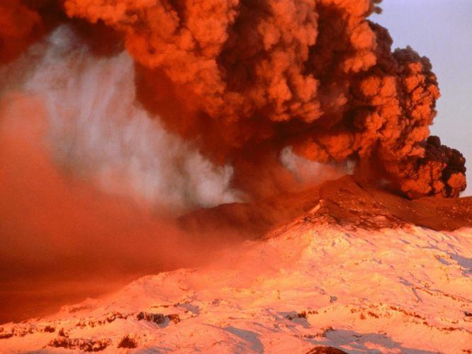 nature volcanoes wallpaper