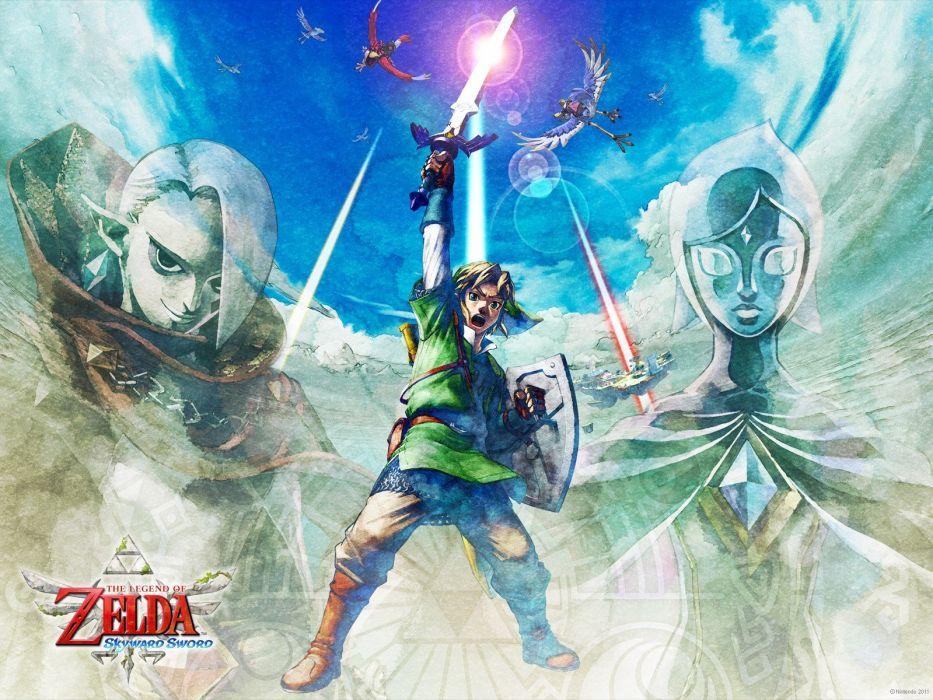Nintendo video games Link Zelda The Legend of Zelda The Legend of Zelda: Skyward Sword nintendo club wallpaper