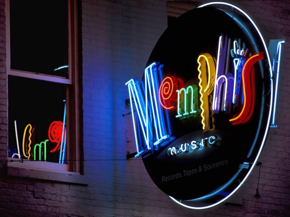 streets Tennessee Memphis neon wallpaper