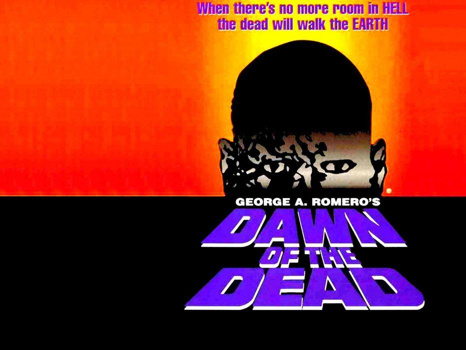 DAWN OF THE DEAD dark horror poster    fw wallpaper