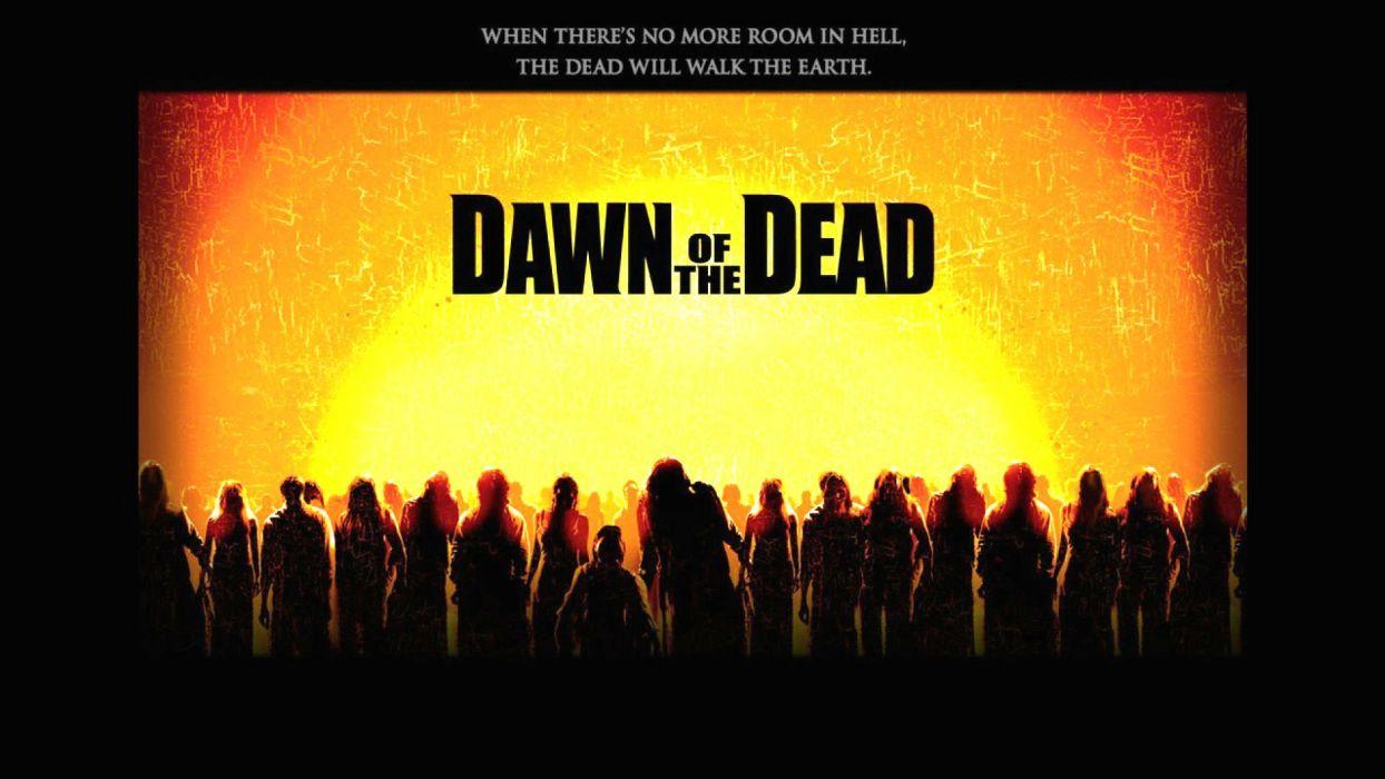 DAWN OF THE DEAD dark horror poster   fd wallpaper