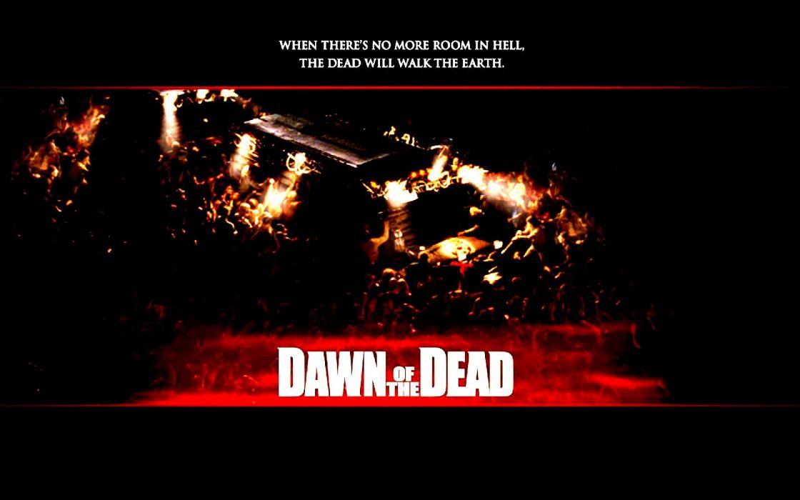 DAWN OF THE DEAD dark horror poster  h4 wallpaper