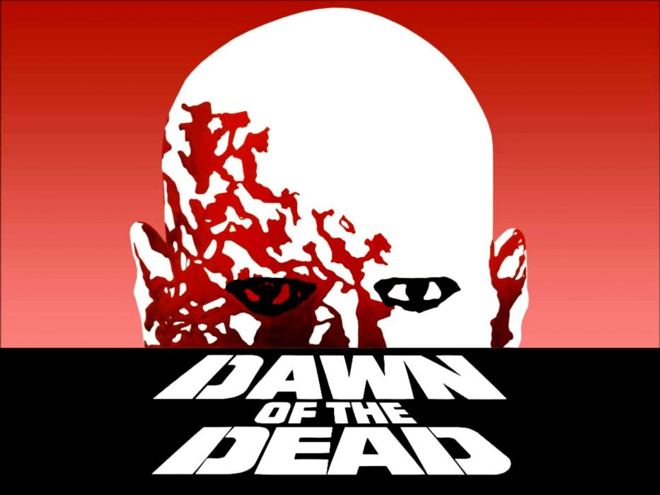 DAWN OF THE DEAD dark horror poster psychedelic   g wallpaper