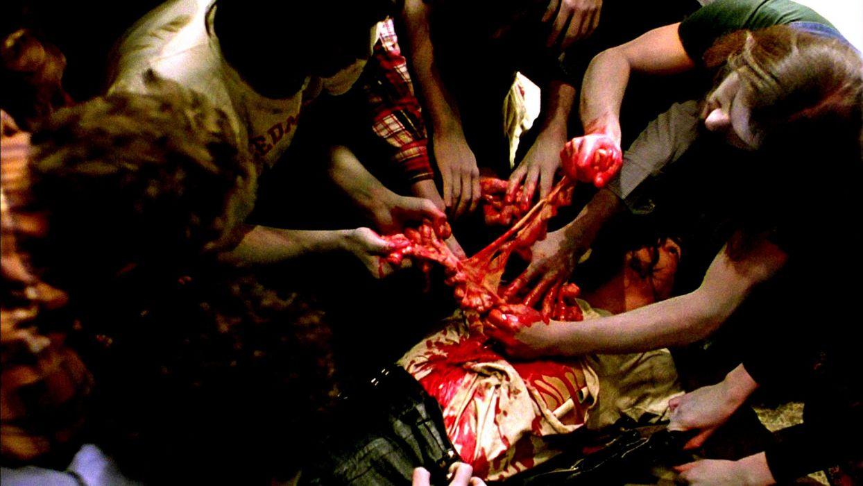 DAWN OF THE DEAD dark horror zombie blood     fs wallpaper