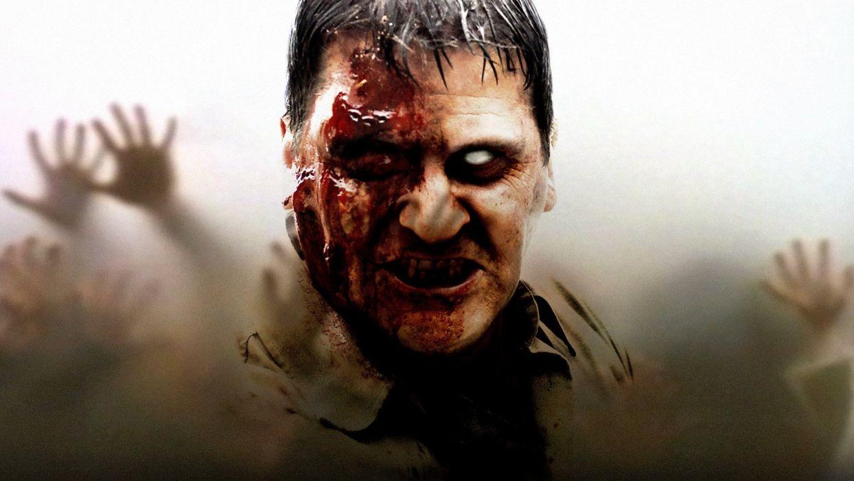 DAWN OF THE DEAD dark horror zombie blood    gd wallpaper