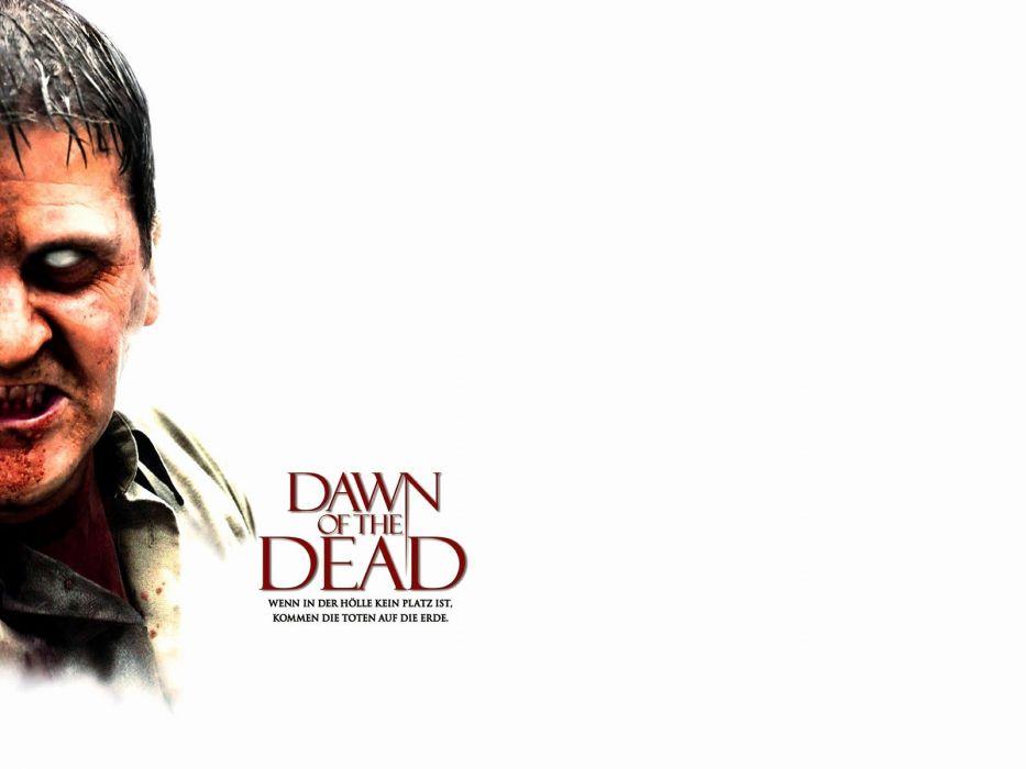 DAWN OF THE DEAD dark horror zombie poster    f wallpaper