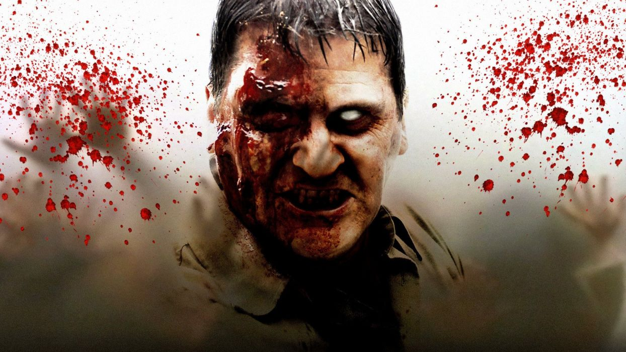 DAWN OF THE DEAD dark horror zombie blood  b wallpaper