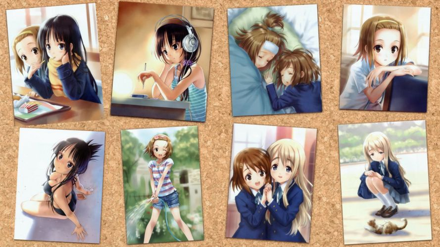 K-ON! school uniforms Hirasawa Yui Akiyama Mio Tainaka Ritsu Kotobuki Tsumugi Hirasawa Ui wallpaper