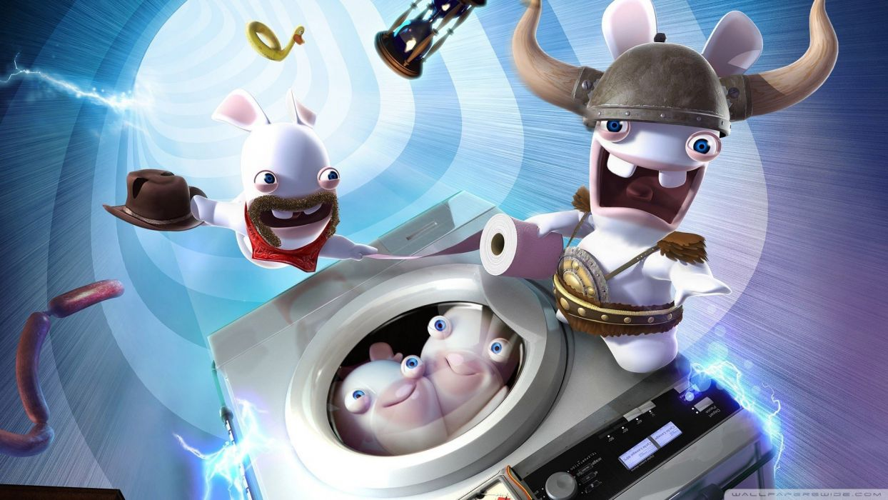 funny travel Raving Rabbids In Time wallpaper