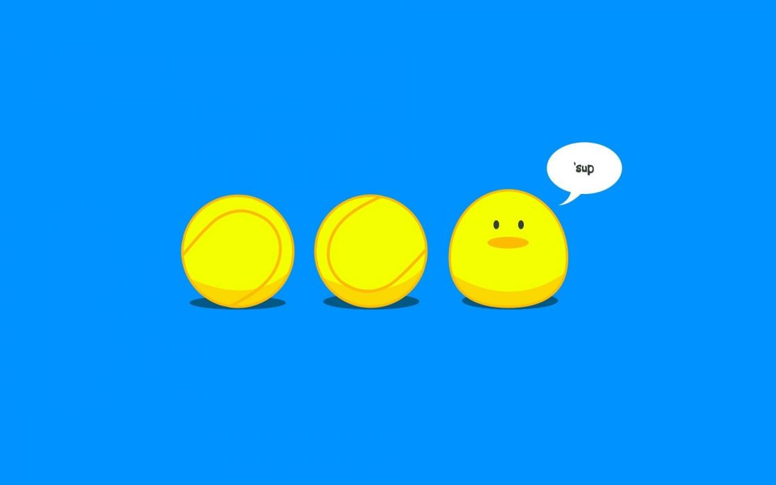 blue yellow balls wallpaper