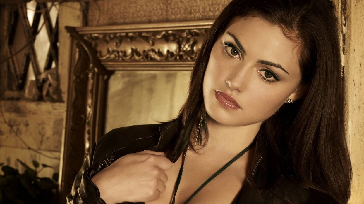 brunettes women models duplicate Phoebe Tonkin wallpaper