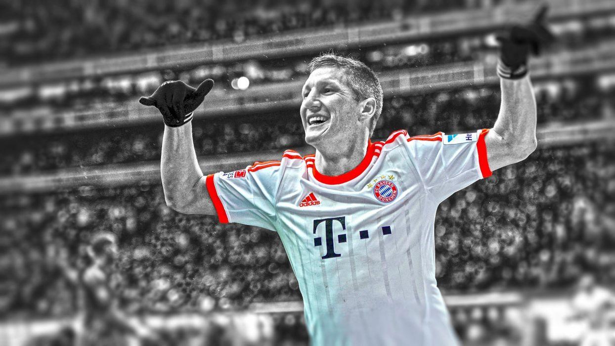 soccer HDR photography cutout Bastian Schweinsteiger football player Bundesliga Bayern Munchen wallpaper