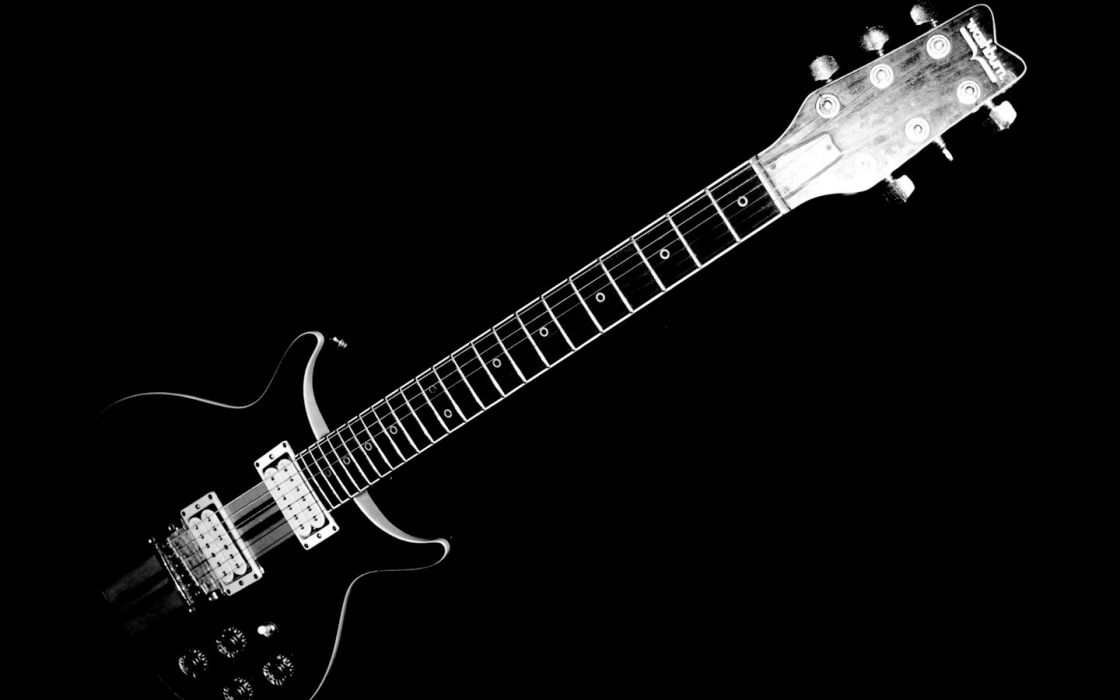 black music dark grayscale guitars monochrome black background wallpaper
