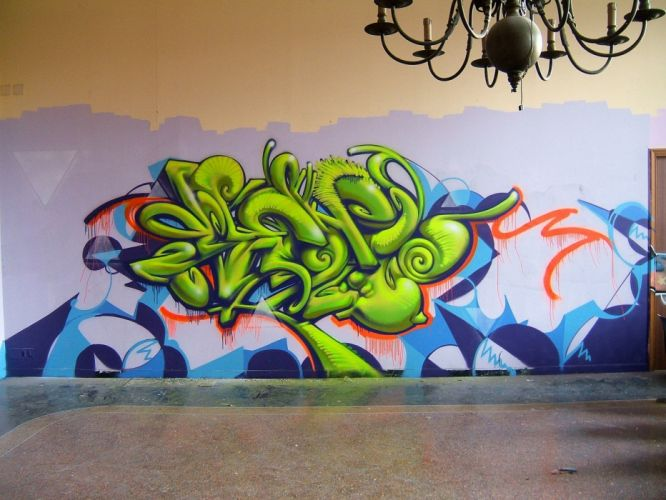 abstract multicolor graffiti street art wallpaper