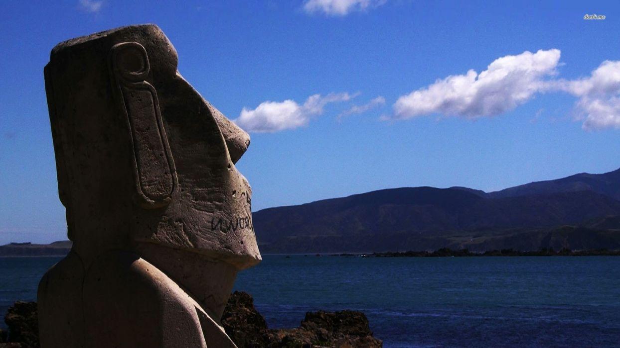 Easter Island moai wallpaper