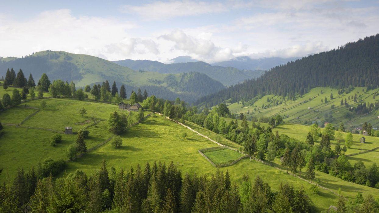 mountains Romania Southern wallpaper