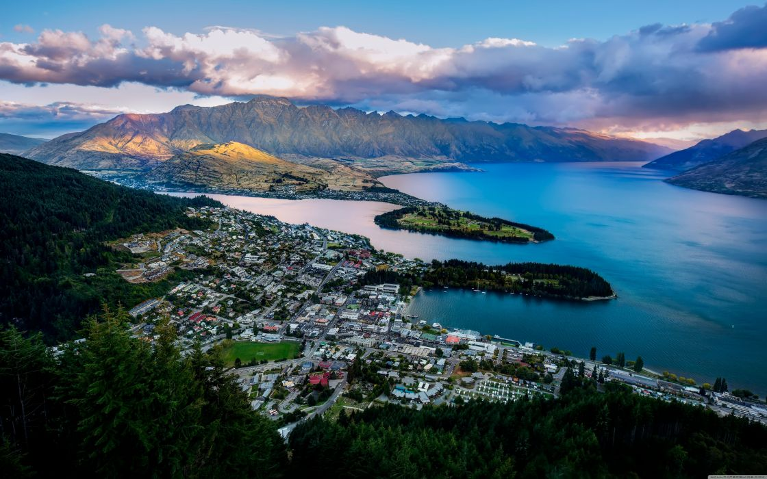 queenstown from the air-wallpaper-5120x3200 wallpaper