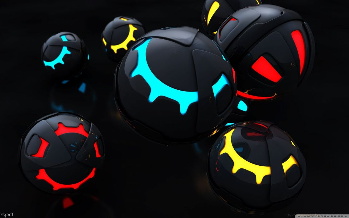 colorful balls 3d-wallpaper-2560x1600 wallpaper
