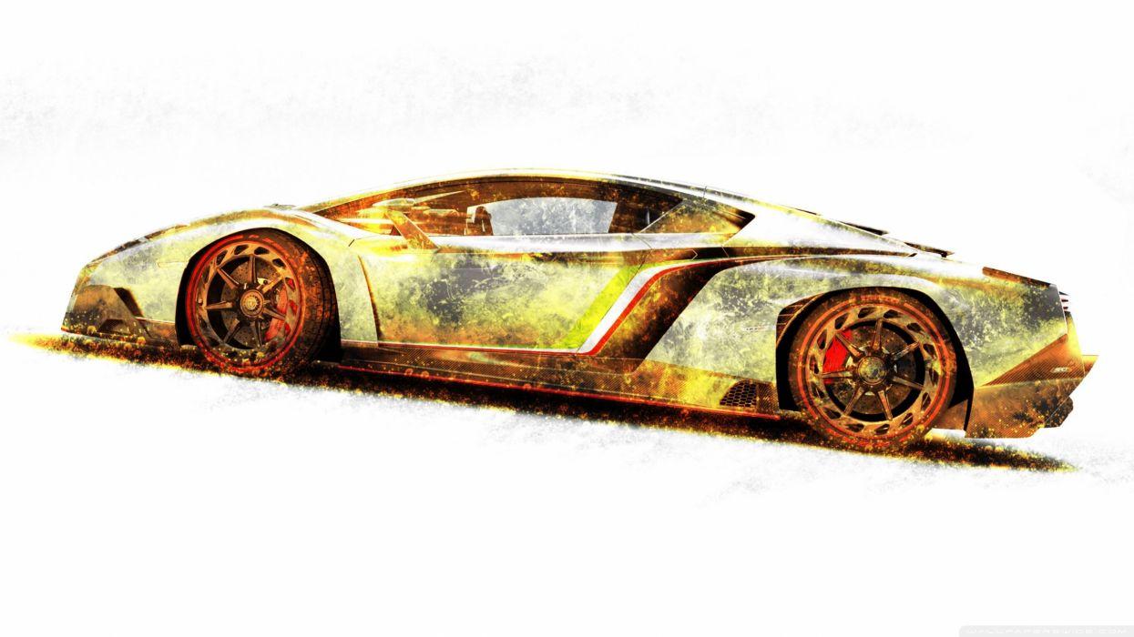 lamborghini veneno gold edition-wallpaper-2560x1440 wallpaper