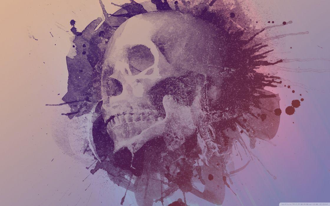 Watercolour Skull Design Wallpaper 2560x1600 Wallpaper