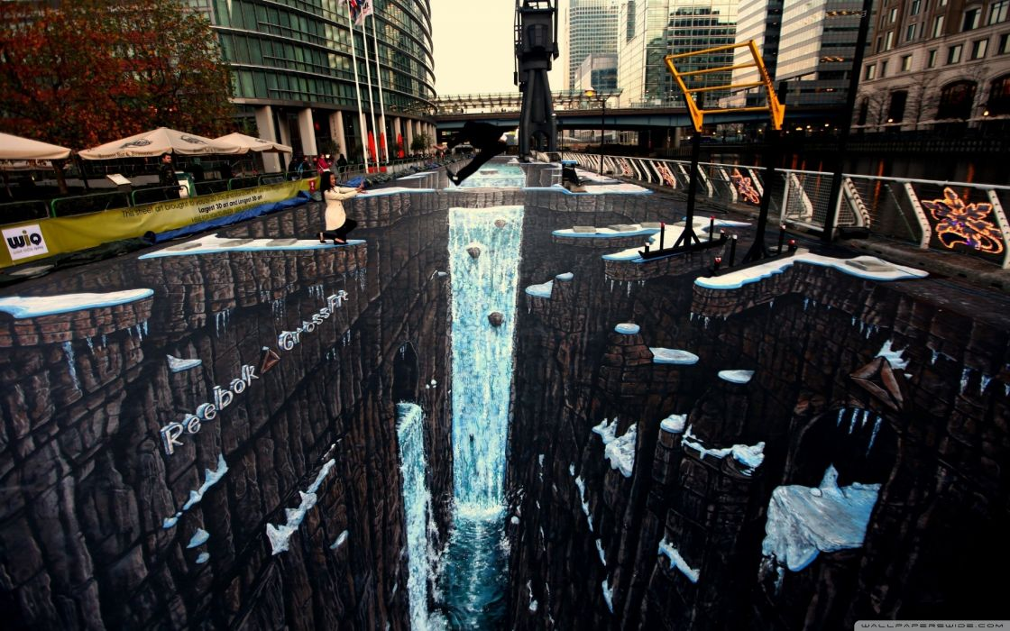 amazing 3d street painting-wallpaper-2560x1600 wallpaper