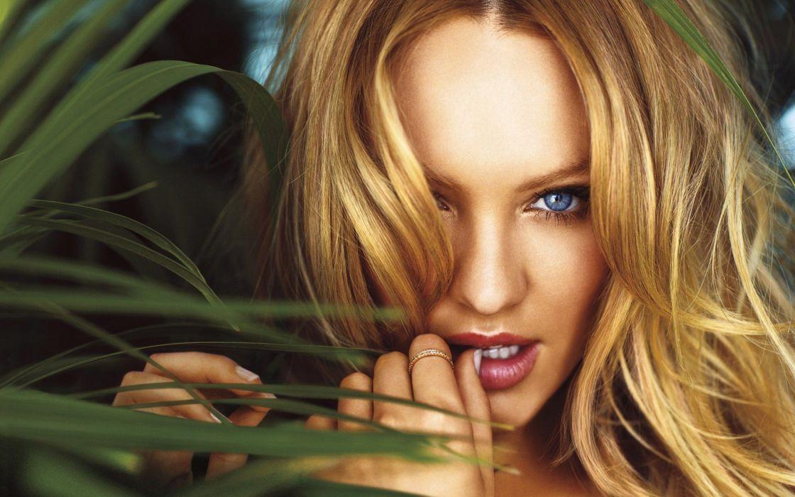 blondes women close-up models Candice Swanepoel Victorias Secret wallpaper