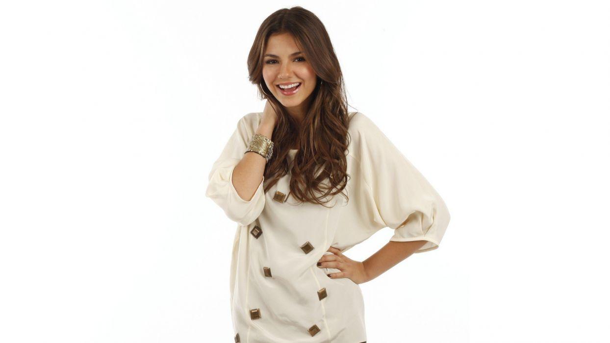 brunettes women actress Victoria Justice celebrity singers wallpaper