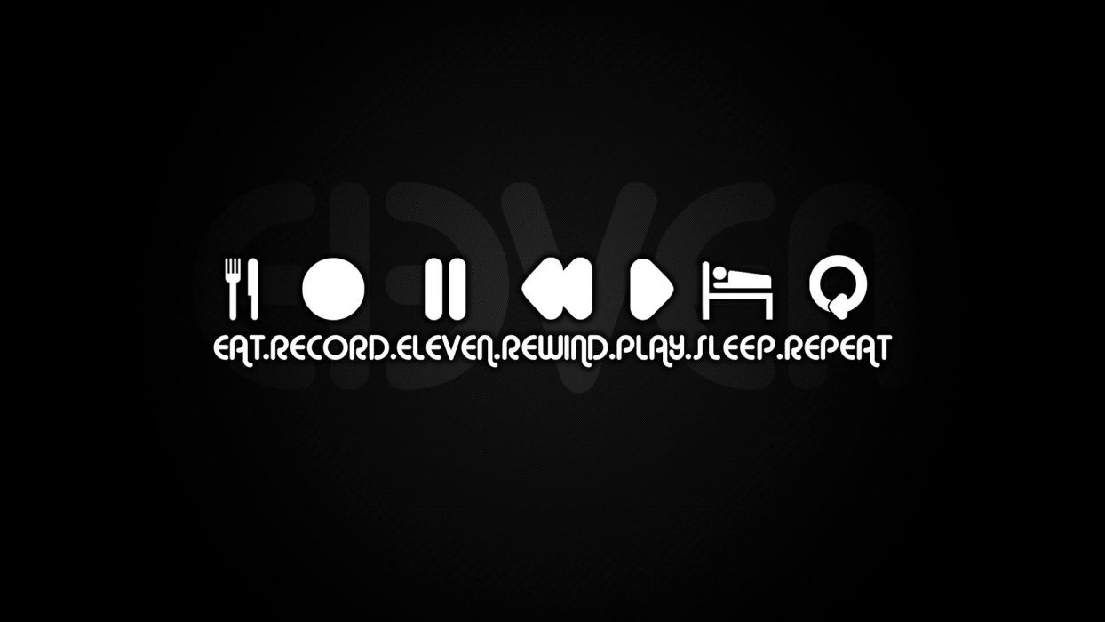 music record typography sleeping repeat wallpaper