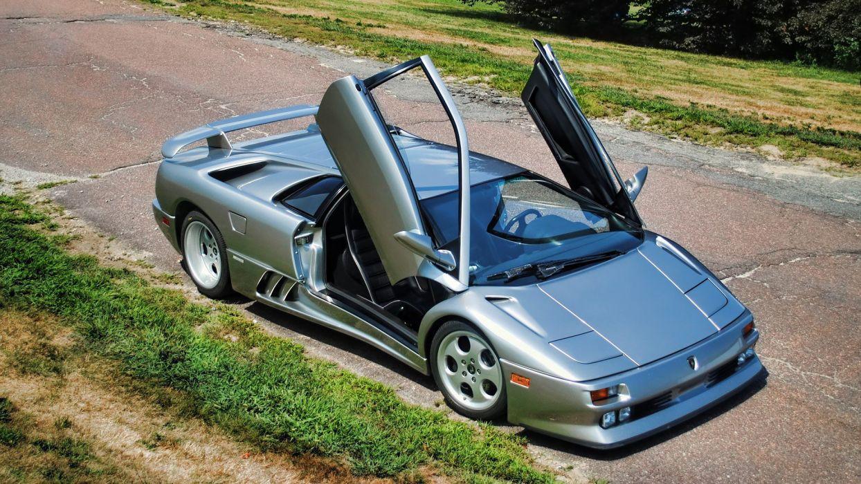 cars vehicles wheels Lamborghini Diablo automobiles italian cars wallpaper