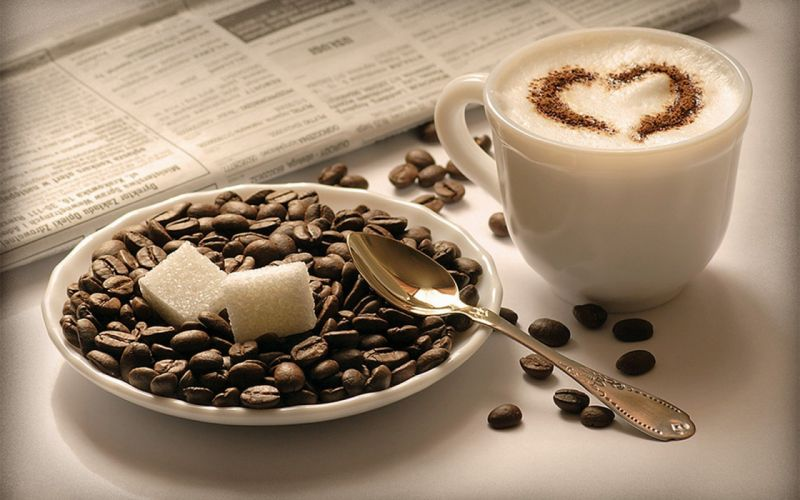 food cappuccino coffee beans coffee cups wallpaper