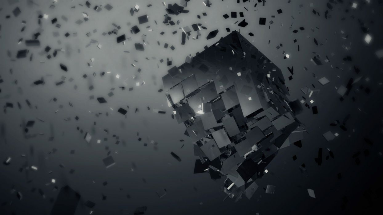 cubes artwork wallpaper