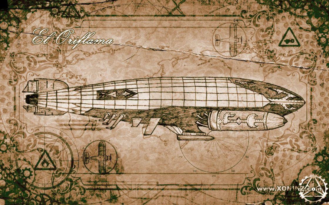 vehicles airship wallpaper