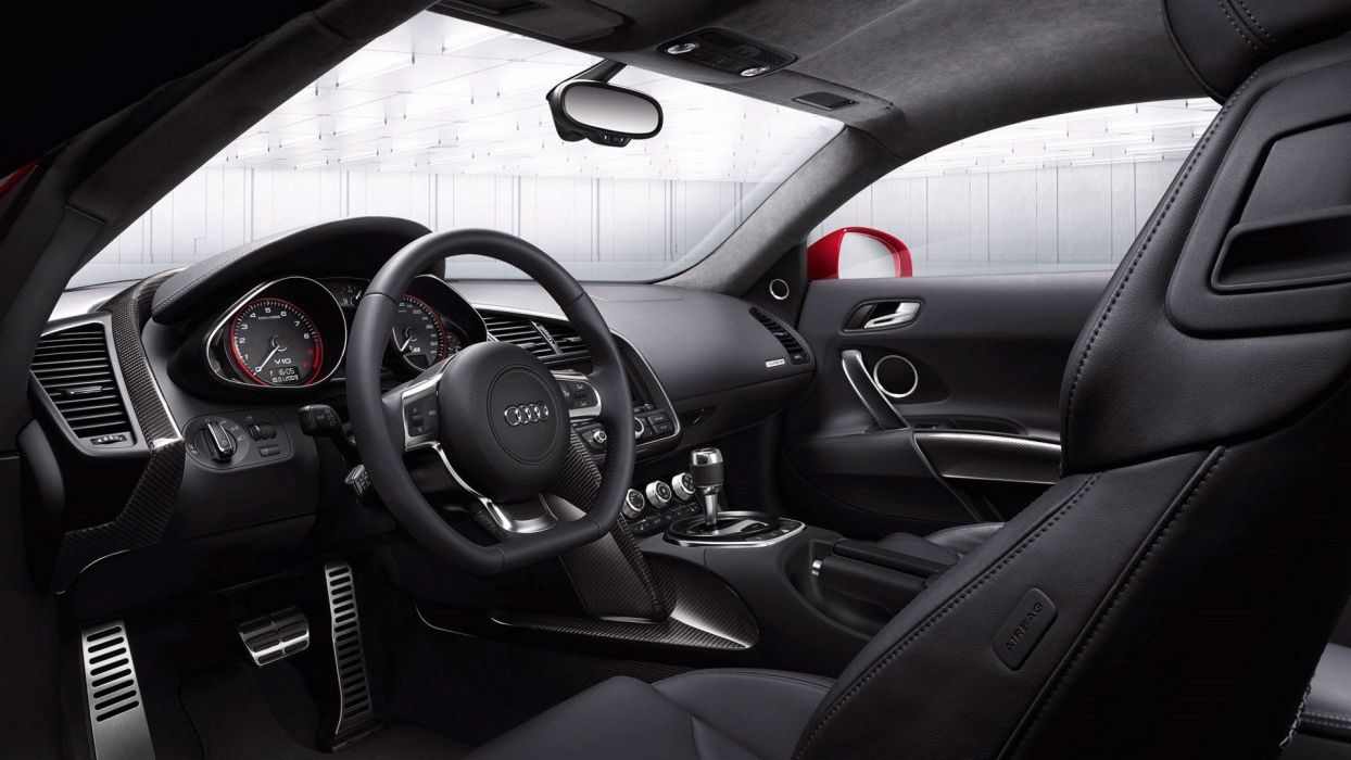 cars Audi Audi R8 car interiors wallpaper