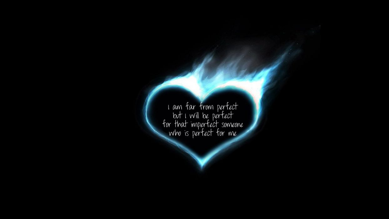 love fire hearts black background wallpaper