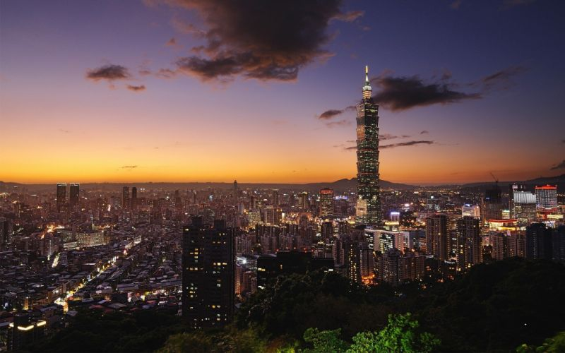landscapes cityscapes towns skyscrapers Taipei city skyline Taipei 101 wallpaper