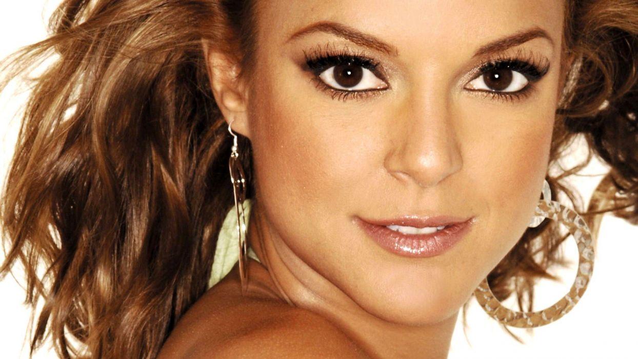 women actress brown eyes brownies CSI TV series Eva La Rue wallpaper